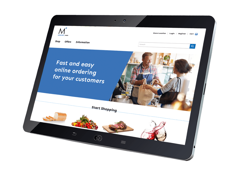 Online Ordering Platform for click and collect and delivery